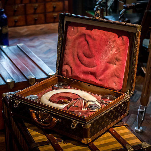 1851 Louis Vuitton President Briefcase With Scottish Snuff Set