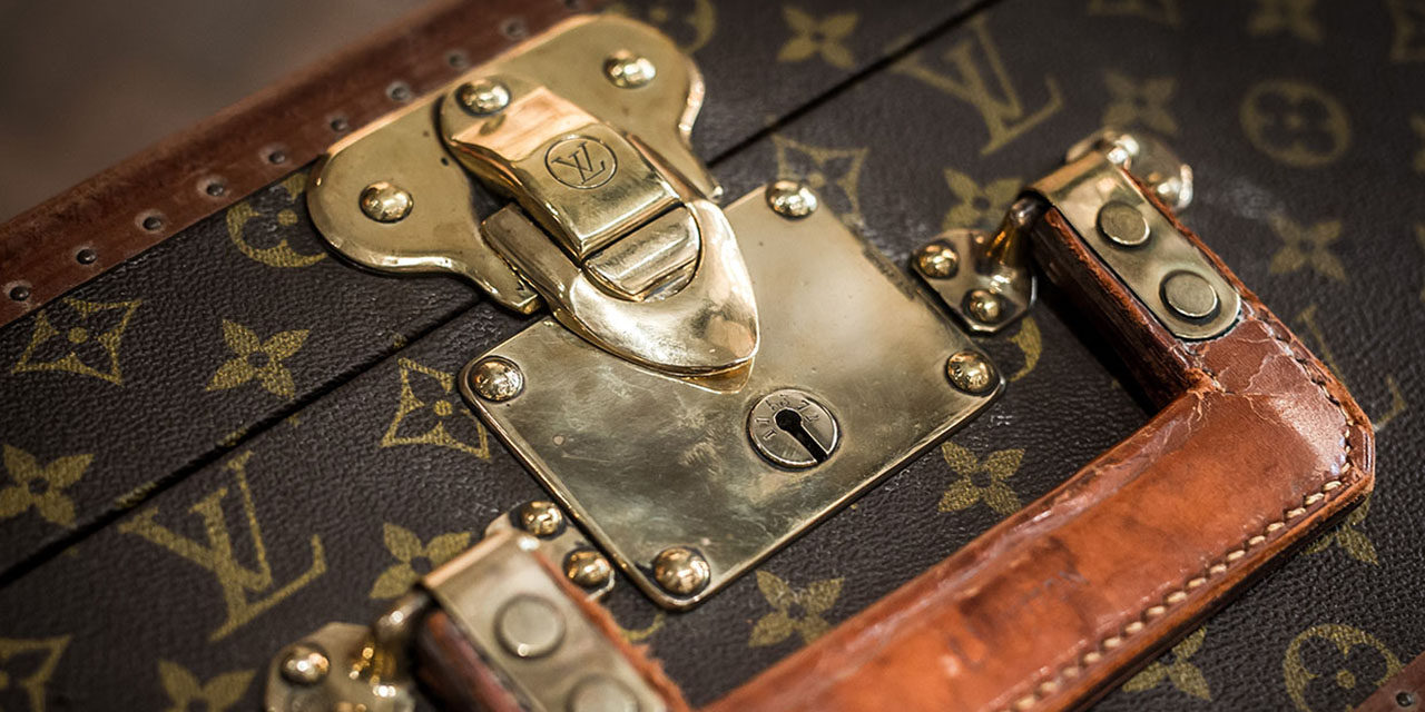 1990's Louis Vuitton Monogrammed Suitcase, Initials N.S.G